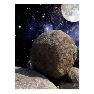"""Stones of Easter #14:  """"Rolling Stone"""" postcard"""