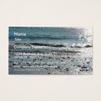 Stones On Beach Shore Business Card