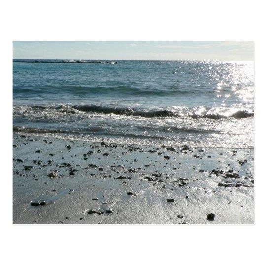 Stones On Beach Shore Postcard