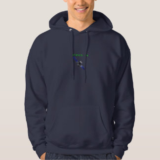 STONES ON Mens Navy Blue Hoodie Sweatshirt