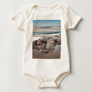 Stones on shore of the Baltic Sea Baby Bodysuit
