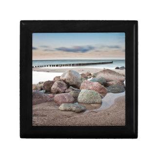 Stones on shore of the Baltic Sea Keepsake Box