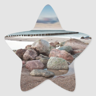 Stones on shore of the Baltic Sea Star Sticker