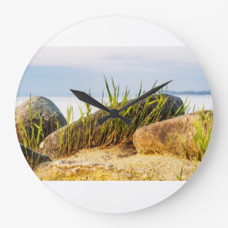 Stones on the Baltic Sea coast Large Clock