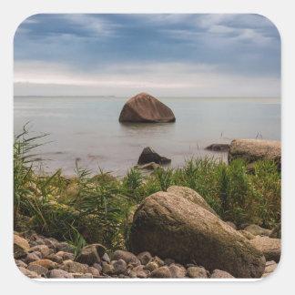 Stones on the Baltic Sea coast Square Sticker