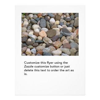Stones rocks beautiful unique all different photo flyer