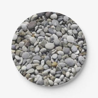 Stones, Rocks Texture 7 Inch Paper Plate