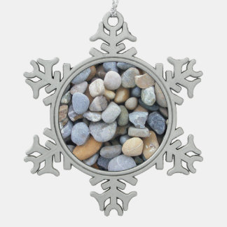 Stones wallpaper snowflake pewter christmas ornament