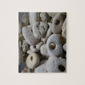 Stones with holes beach finds jigsaw puzzle