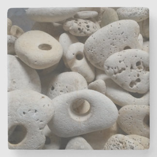 Stones with holes drinks mat stone coaster