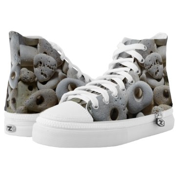 Beach Themed Stones with holes rocking it at the beach High-Top sneakers