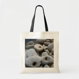 Stones with holes shopping / beach bag. tote bag