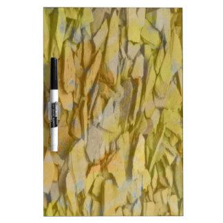 stones yellow dry erase white board