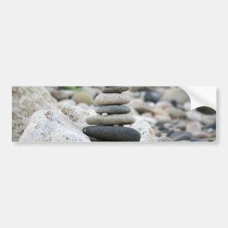 Stones zen in the beach of Almeria Bumper Sticker