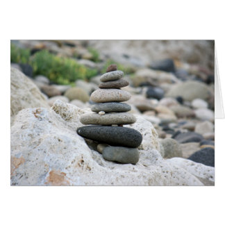 Stones zen in the beach of Almeria Card