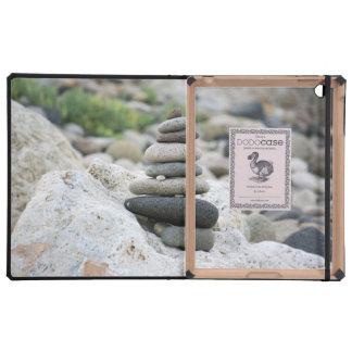 Stones zen in the beach of Almeria Covers For iPad