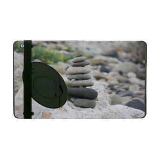 Stones zen in the beach of Almeria iPad Cover