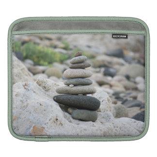 Stones zen in the beach of Almeria iPad Sleeve