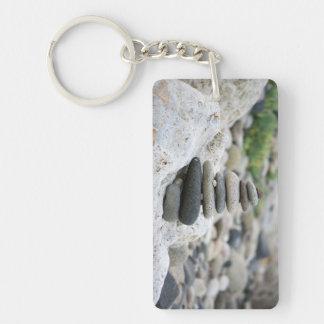 Stones zen in the beach of Almeria Keychain