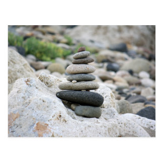 Stones zen in the beach of Almeria Postcard