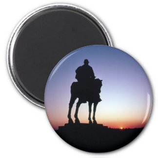 Stonewall at Bull Run 2 Inch Round Magnet