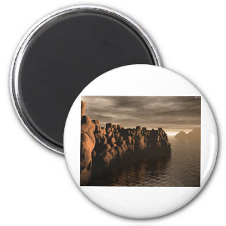 Stonewall At Sunset 2 Inch Round Magnet
