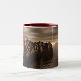 Stonewall At Sunset Two-Tone Coffee Mug