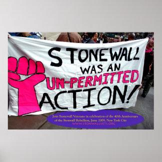 Stonewall era una acción Unpermitted Póster