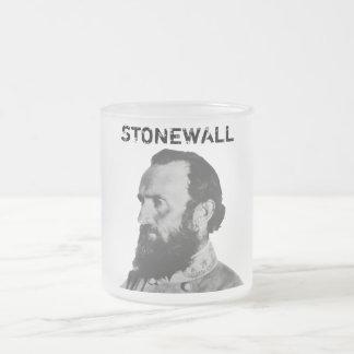 Stonewall Frosted Glass Coffee Mug