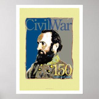 Stonewall Jackson 150 Anniversary Civil War Art Po Poster