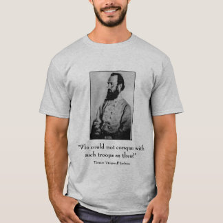Stonewall Jackson and quote - grey T-Shirt