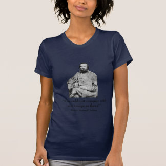 Stonewall Jackson and quote -- Navy Blue T-Shirt