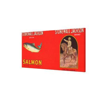 Stonewall Jackson Brand Salmon Label Canvas Print