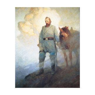 Stonewall Jackson by NC Wyeth Stretched Canvas Print