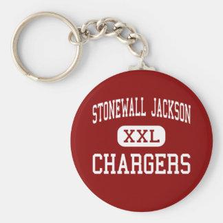Stonewall Jackson - Chargers - Middle - Roanoke Basic Round Button Keychain
