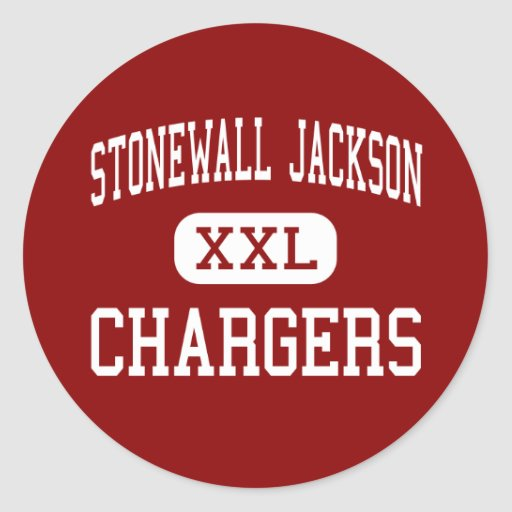 Stonewall Jackson - Chargers - Middle - Roanoke Round Sticker