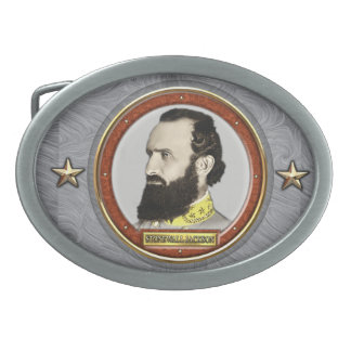 Stonewall Jackson Civil War Oval Belt Buckles