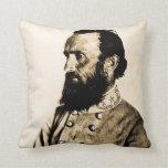 Stonewall Jackson Confederate Civil War Hero Throw Pillows