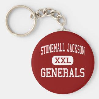 Stonewall Jackson - Generals - Middle - Charleston Basic Round Button Keychain