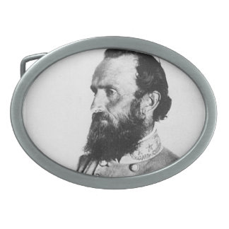 Stonewall Jackson Hebilla Cinturon Oval