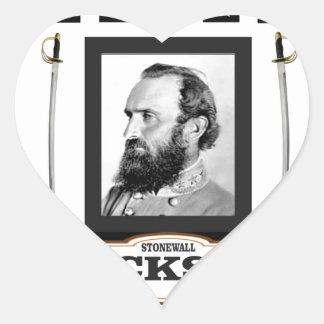 stonewall jackson history heart sticker