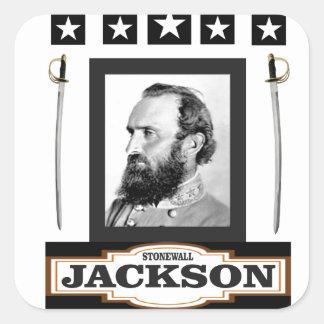 stonewall jackson history square sticker