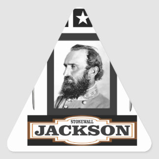 stonewall jackson history triangle sticker