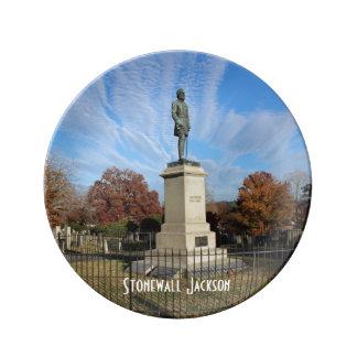 Stonewall Jackson Monument - Photo Porcelain Plate