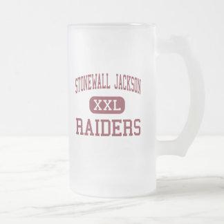 Stonewall Jackson - Raiders - High - Manassas Frosted Glass Beer Mug