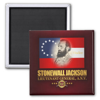Stonewall Jackson (Southern Patriot) 2 Inch Square Magnet