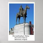 Stonewall Jackson Statue Poster