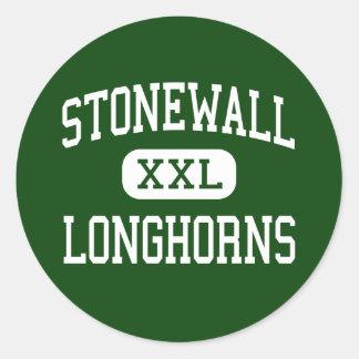 Stonewall - Longhorns - High - Stonewall Oklahoma Round Sticker
