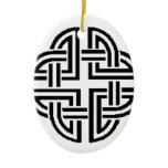 Stonewall Sentinel Celtic Knotwork Logo Ceramic Ornament