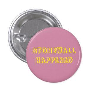 Stonewall sucedió botón pin redondo de 1 pulgada